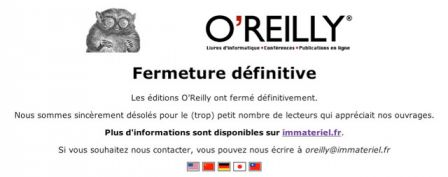 Oreilly France Fermeture